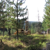 Drilling of primary clay in Purdue Creek area